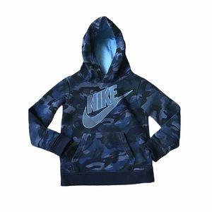 Nike XS 4-5 Blue Camouflage Hoodie Sweatshirt